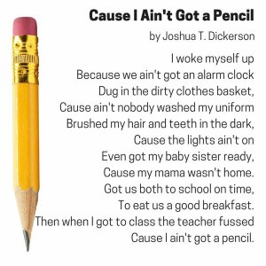 aint got a pencil